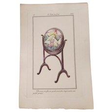 Art Deco French Art Book Plate Petit Point Tapestry Le Gout Du Jour 1920 Paper