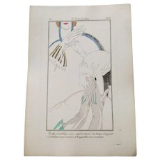 Art Deco Flapper Gloves Fashion Plate Vintage 1920s Art Deco Le Gout Du Jour