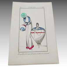 Art Deco Carnival Costumes Book Plate Vintage 1920s French Paper Art