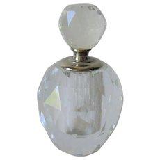 Vintage Lead Crystal Perfume Bottle Prism Cut