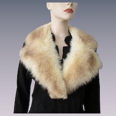 Faux Fur Collar Vintage 1970s Soft Beige Brown