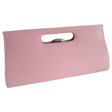Mod Pink Purse Vintage 1960s Structured Large Handbag