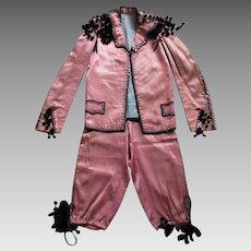 Childrens Vintage Mariachi Goyesco Costume Ornate Satin Jacket Pants