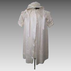 Antique Victorian Childrens Silk Suit Jacket Dress Full Slip Bonnet 1900s