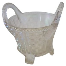 Northwood White Carnival Glass Bushel Basket