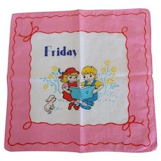 Vintage Friday Children's Hankie Handerchief