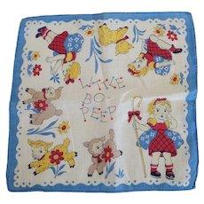 Vintage Little Bo Peep Handkerchief Hankie