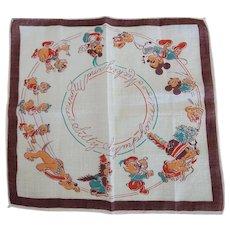 Rare Mickey & Minnie's Silly Symphony Hankie Handkerchief