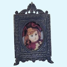 Tiny Miniature Sterling Silver Doll House Picture Frame