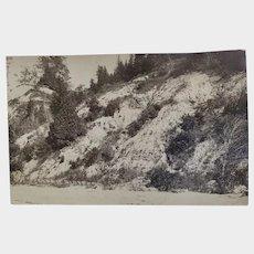 RPPC Early 1900's Cedar Bluff Bluffs Ozaukee County Postcard Lake Michigan