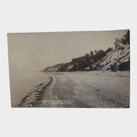 RPPC Early 1900's Lake Michigan at Cedar Bluff Bluffs Postcard