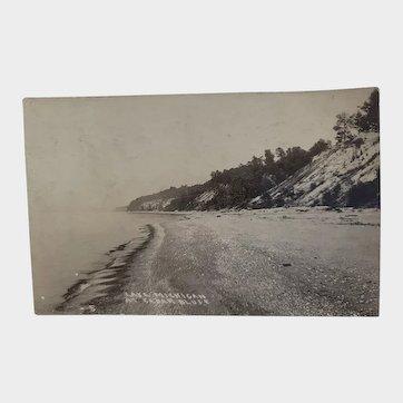 RPPC Early 1900's Lake Michigan at Cedar Bluff Bluffs Postcard