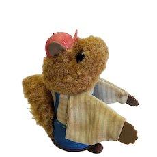 Fisher Price 1979 Woodsy Squirrel Finger Puppy Squeak Toy