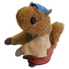 1979 Fisher Price Woodsy Squirrel Finger Puppy Squeak Toy