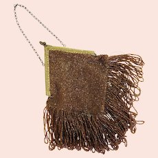 Vintage Seed Bead Purse With Lots of Fringe