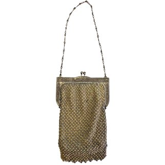 Whiting & Davis Mesh Purse with Chain Handle