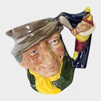 Rare Royal Doulton Small Toby Mug Character Jug Punch and Judy Man D 6596