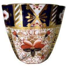 Antique English Porcelain Royal Crown Derby Imari Handleless Cup