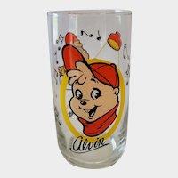 1985 Alvin & The Chipmunks Collector Glass - Alvin