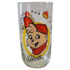 1985 Alvin & The Chipmunks Collector Glass - Alvin
