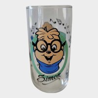 1985 Alvin & The Chipmunks Collector Glass - Simon