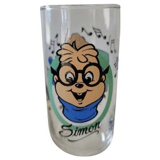 1985 Alvin & The Chipmunks Collector Glass - Simon