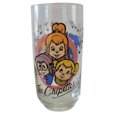 1985 Alvin & The Chipmunks Collector Glass - The Chipettes