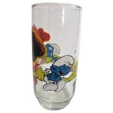 Vintage 1982 Jokey Smurf Peyo Collector Glass