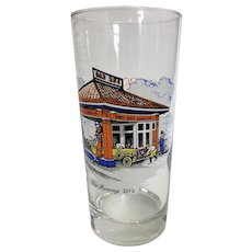 Gulf Gasoline Collector Glass - The Roaring 20's