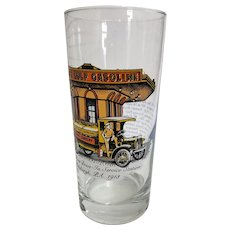 Gulf Gasoline Collector Glass - World's First Drive In Service Station Pittsburgh PA 1913