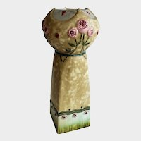 Royal Dux Bohemia Amphora Art & Crafts Style Vase With Flowers