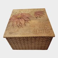 Victorian Wood Collars & Cuffs Box Wood Burned Decoration