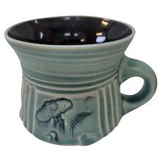 Steven Fabrico Art Pottery Coffee Mug Moon & Stars Cloud With Lightning Bolt 96