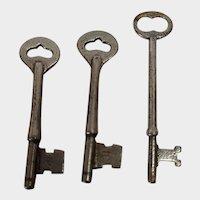 Lot of 3 Vintage Skeleton Keys - Lot #3