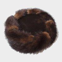 Styled By Coralie Vintage Fur & Velvet Hat 1940's
