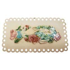 Victorian Calling Card With Friendship Hand