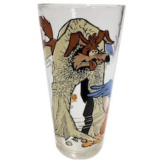 Vintage 1976 Wile E Coyote & Roadrunner Pepsi Collector Glass