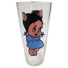 Vintage 1973 Petunia Pig Pepsi Collector Glass