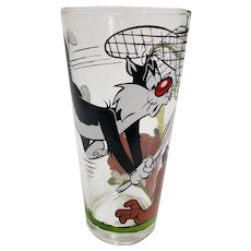 Vintage 1976 Sylvester & Tweety Pepsi Collector Glass