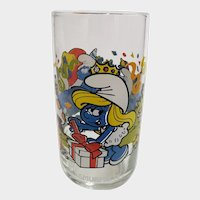 Vintage 1983 Smurfette Peyo Collector Glass