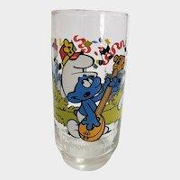 Vintage 1983 Harmony Smurf Peyo Collector Glass