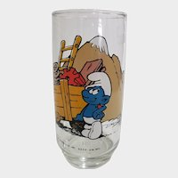 Vintage 1982 Hefty Smurf Peyo Collector Glass
