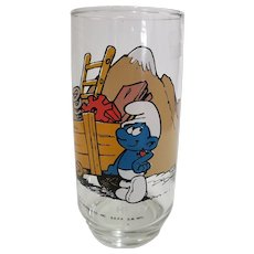 Vintage 1982 Hefty Smurf Peyo Collector Glass