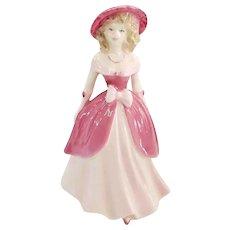 Coalport Bone China Valentine Debutante Endless Love Figurine Made in England