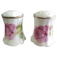 Royal Austria Porcelain Salt & Pepper Shakers Pink Roses
