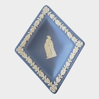 Wedgwood Blue Jasperware Diamond Shaped Trinket Dish