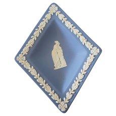 Wedgwood Blue Jasperware Diamond Shaped Trinket Dish