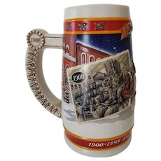 1999 Budweiser Holiday Stein A Century of Holiday Tradition