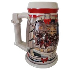 2001 Budweiser Holiday Beer Stein Holiday at the Capitol