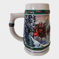 1993 Budweiser Holiday Stein Special Delivery by Nora Koerber